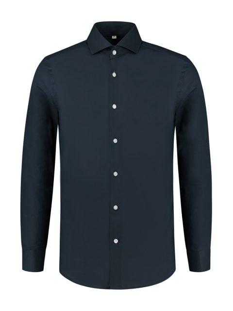 overhemd donkerblauw_Front